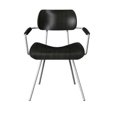 Silvey Classroom Dining Chair Color: Black/Chrome