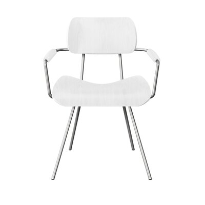 Silvey Classroom Dining Chair Color: White/Chrome