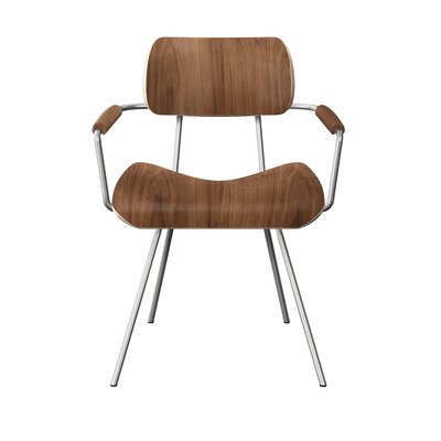 Silvey Classroom Dining Chair Color: Walnut/Chrome