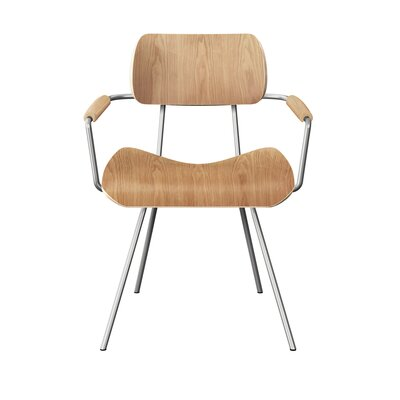 Silvey Classroom Dining Chair Color: Natural/Chrome