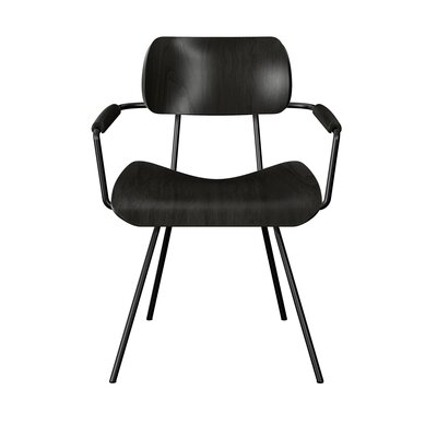 Silvey Classroom Dining Chair Color: Black