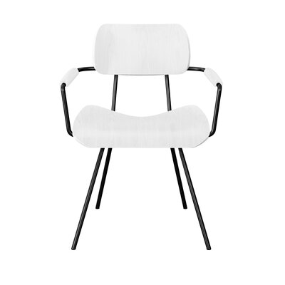 Silvey Classroom Dining Chair Color: White/Black