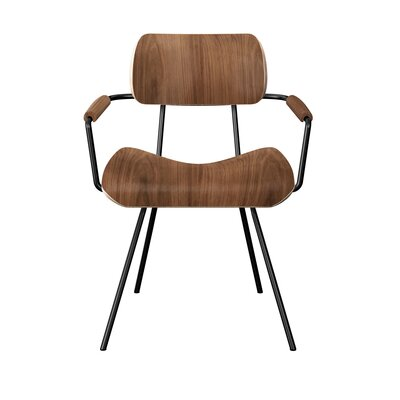 Silvey Classroom Dining Chair Color: Walnut/Black