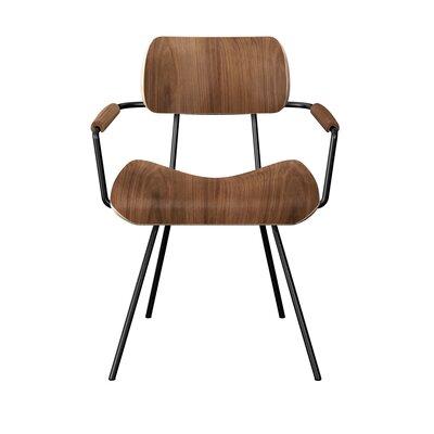 Silvey Classroom Dining Chair Color: Walnut/Black