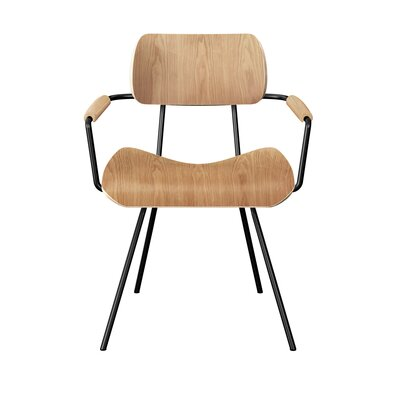 Silvey Classroom Dining Chair Color: Natural/Black