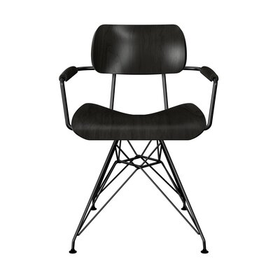 Simas Dining Chair Color: Black