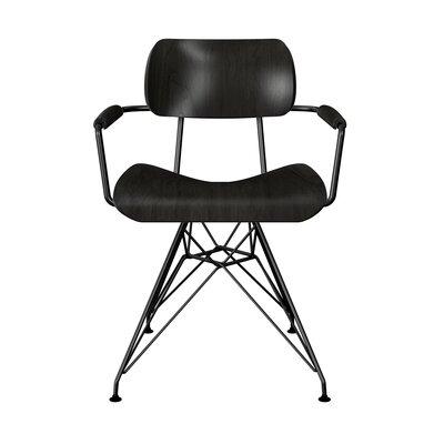 Simas Dining Chair Color: Black