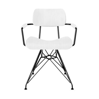 Simas Dining Chair Color: White/Black