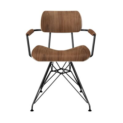 Simas Dining Chair Color: Walnut/Black