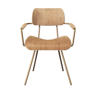 Silvey Classroom Dining Chair Color: Natural/Brass