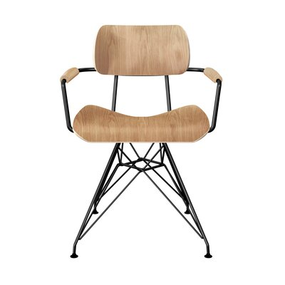 Simas Dining Chair Color: Natural/Black