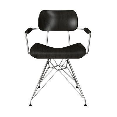 Simas Dining Chair Color: Black/Chrome