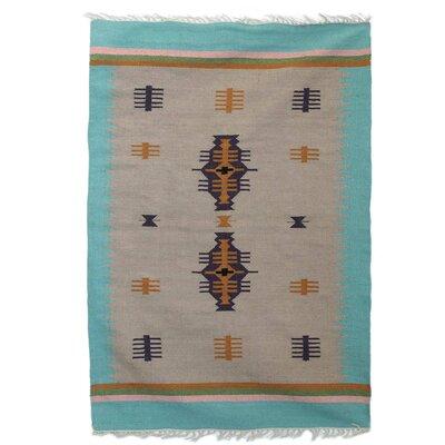 Parkey Caravan Handmade Dhurrie Wool Ivory Area Rug