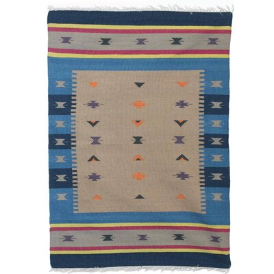 Parris Enchanted Tale Hand Dhurrie Wool Blue/Gray Area Rug