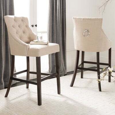 Ishaan 45 Bar Stool Color: Beige