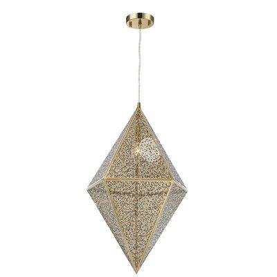Hudson Yards 1-Light Geometric Pendant Finish: Gold