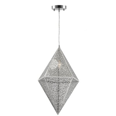Hudson Yards 1-Light Geometric Pendant Finish: Polished Chrome