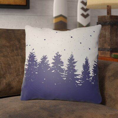 Frissell Trees Outdoor Throw Pillow Size: 18 H x 18 W x 4 D, Color: White / Blue