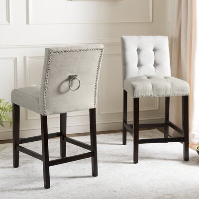Rumi Bar Stool Upholstery: Light Gray