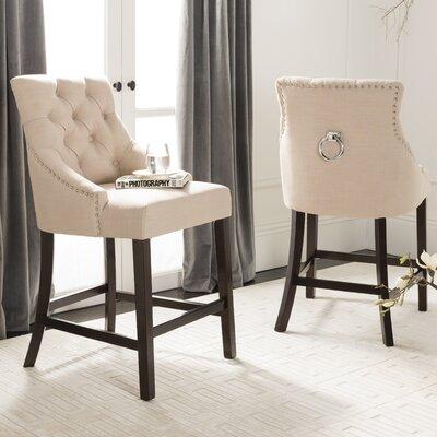 Ayansh 26 Bar Stool Upholstery: Linen-Beige