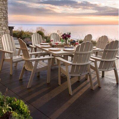 Vineyard Adirondack Nautical Trestle 9 Piece Dining Set Table Color: Sand, Chair Color: Sand
