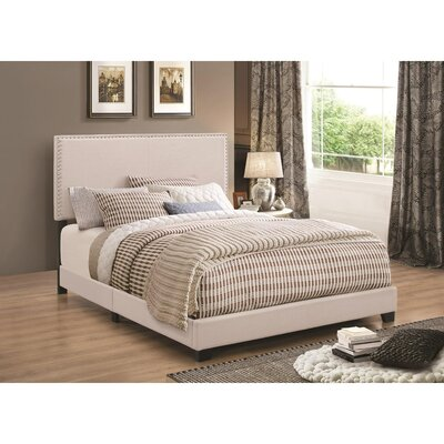 Kenworthy Upholstered Sleigh Bed Color: Ivory, Size: Full