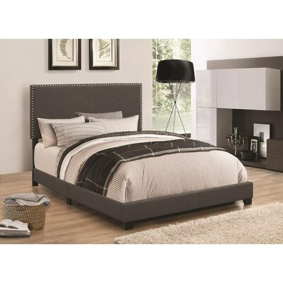 Kenworthy Upholstered Sleigh Bed Color: Espresso, Size: King