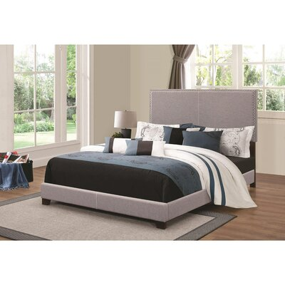 Kenworthy Upholstered Sleigh Bed Color: Gray, Size: Twin