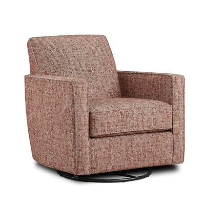 Betz Swivel Club Chair Upholstery: Nest Henna