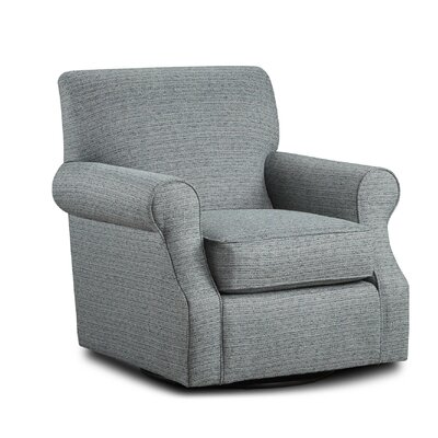 Miss Swivel Club Chair Upholstery: Branco Teal