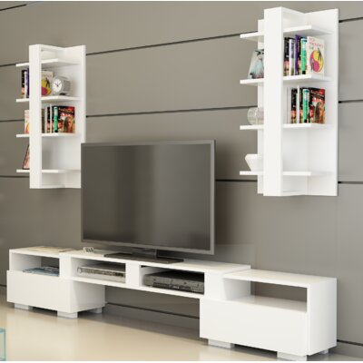 Buruni Multifunctional Entertainment Center Color: White