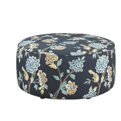 Karns Cocktail Ottoman Upholstery : Helene Floral Admiral
