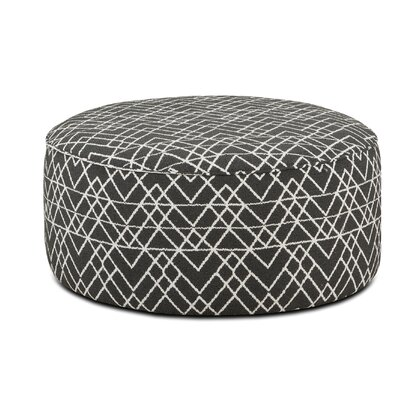 Karns Cocktail Ottoman Upholstery : Hyphen Onyx