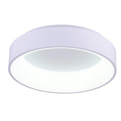 Arenal 1-Light LED Flush Mount Finish: White, Size: 5 H x 18 W x 18 D