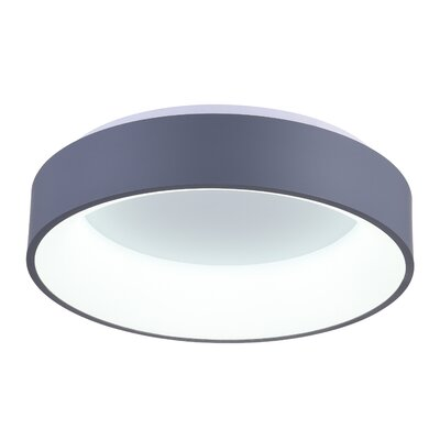 Arenal 1-Light LED Flush Mount Finish: Gray, Size: 5 H x 18 W x 18 D