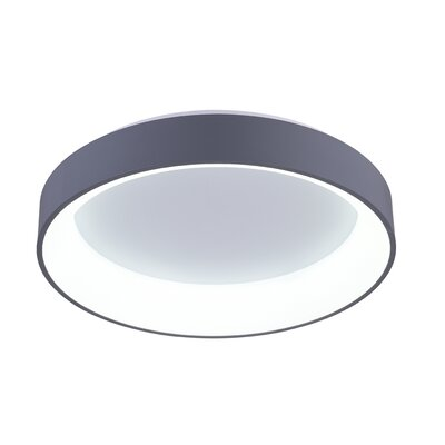 Arenal 1-Light LED Flush Mount Finish: Gray, Size: 5 H x 24 W x 24 D