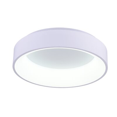 Arenal 1-Light LED Flush Mount Finish: White, Size: 5 H x 24 W x 24 D
