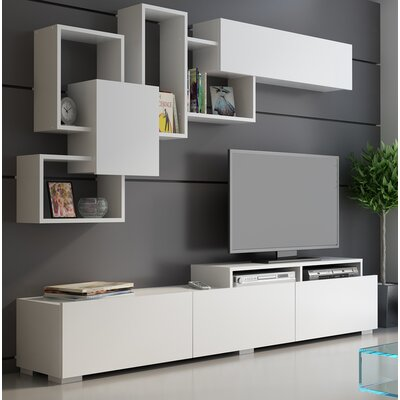 Gowen Entertainment Center Color: White