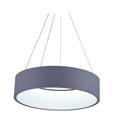Arenal LED Drum Chandelier Finish: Gray, Size: 4 H x 18 W x 18 D