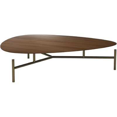 Finsbury High Coffee Table Size: 13 H x 51 W x 51 D, Table Top Color: Walnut