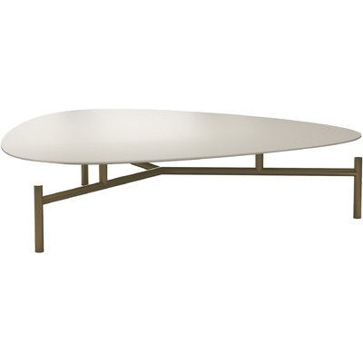 Finsbury High Coffee Table Size: 11 H x 43 W x 43 D, Table Top Color: Almond