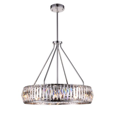 Squill 8-Light Drum Chandelier