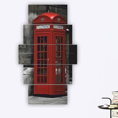 'English Telephone Booth' Photographic Print Multi-Piece Image on Wood 97BE2AA94F6042B28E9BAF7E2BE85BBD