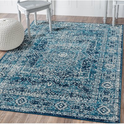 Dietz Midnight Blue Area Rug Rug Size: Rectangle 98 x 132