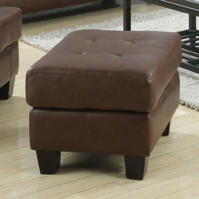 Ptolemy Leather Ottoman