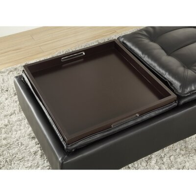 Karwaski Upholstered Leather Storage Ottoman