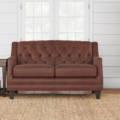 Kashvi Leather Loveseat Upholstery: Steamboat Chestnut