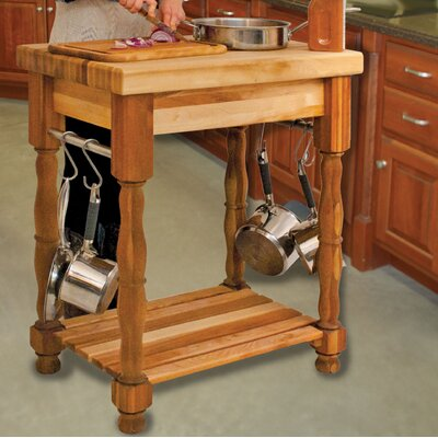 Kitchen Island with Butcher Block