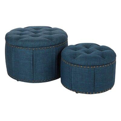 Kardos 2 Piece Storage Ottoman Upholstery: Azure