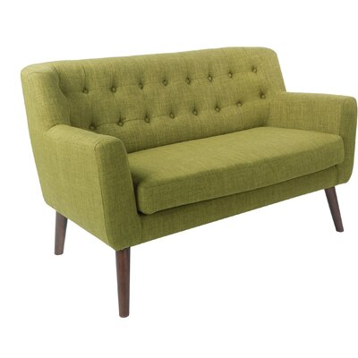 Demartino Loveseat Upholstery: Green